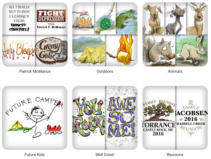 Category images of products for sale