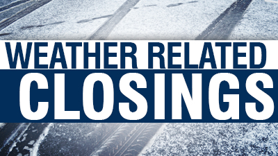 Closings and Delays for Wednesday Jan 22