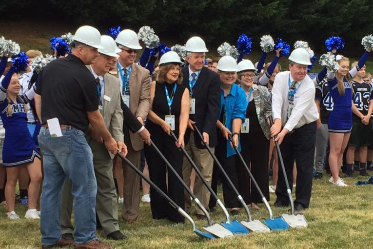 Artificial Turf Field Ground Breaking Ceremony Held At Smoky Mountain High School