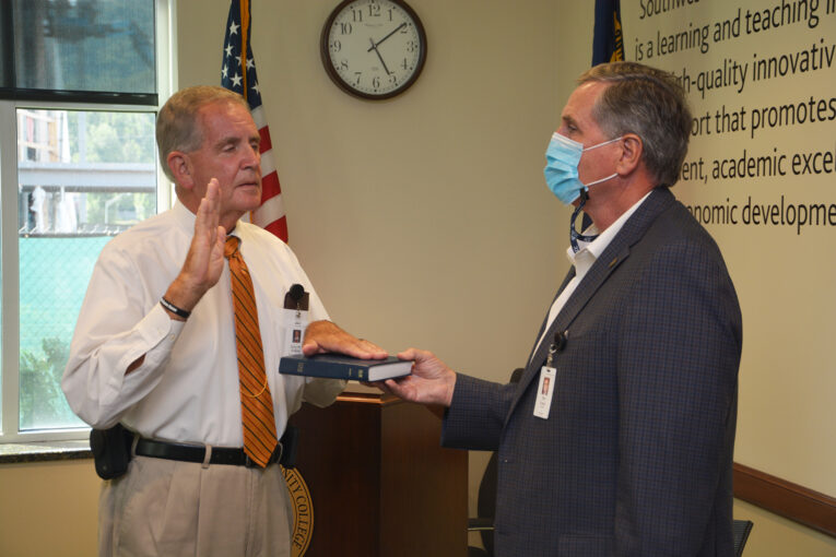 Henke and Shields sworn in for new terms as SCC trustees