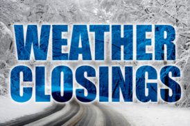 Closings & Delays for December 1st, 2020