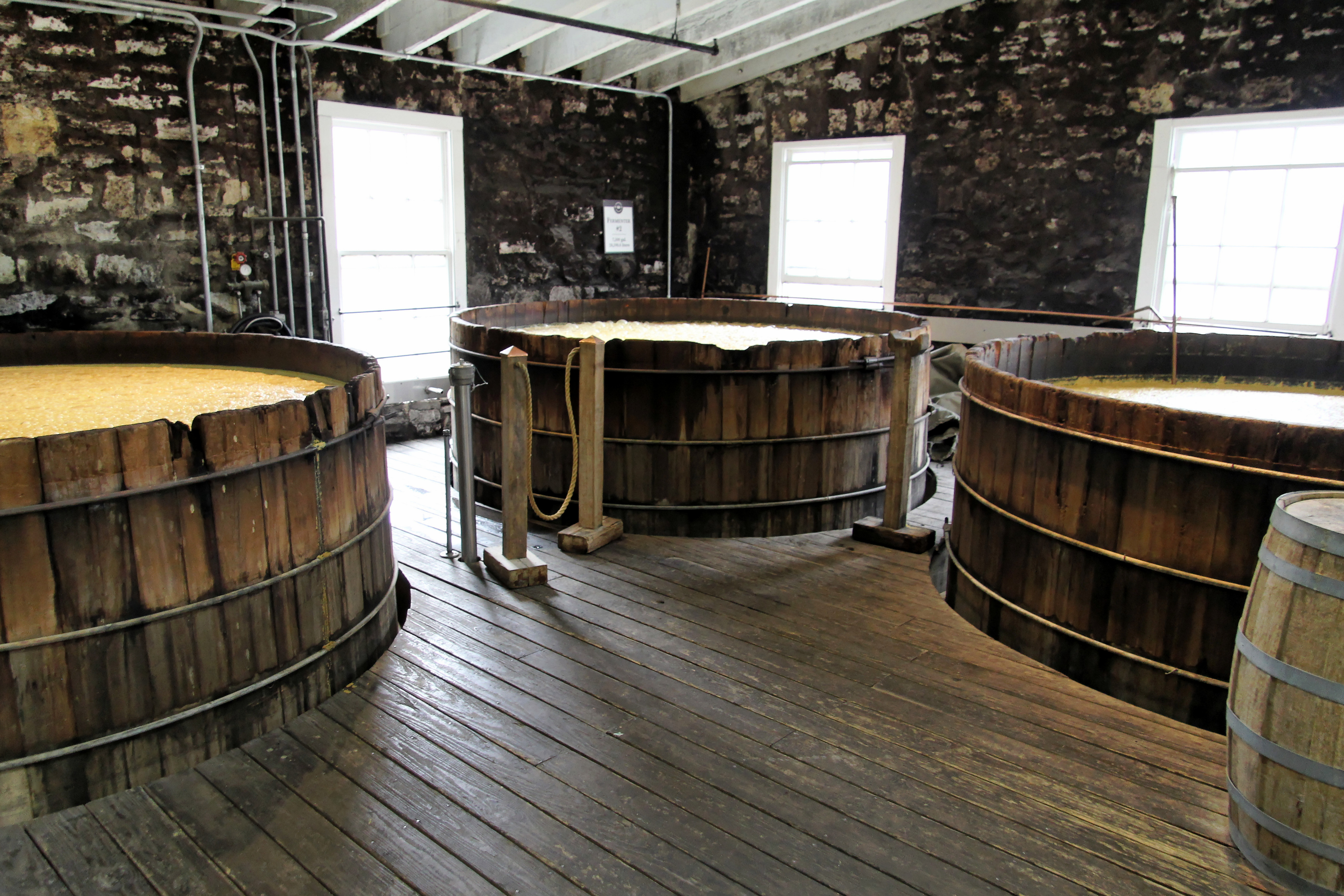 Woodford Reserve fermentation tanks