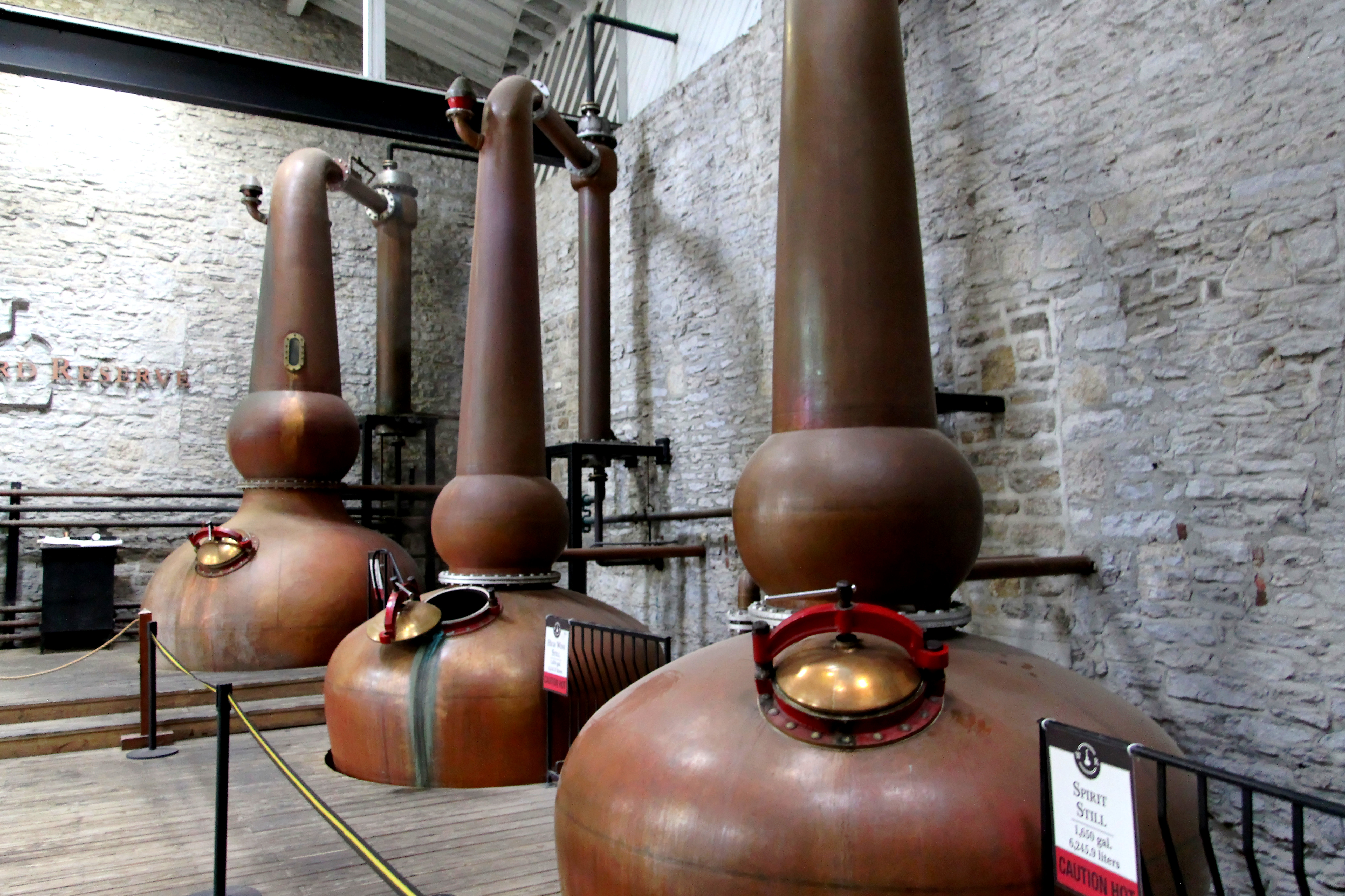 Woodford Reserve pot stills