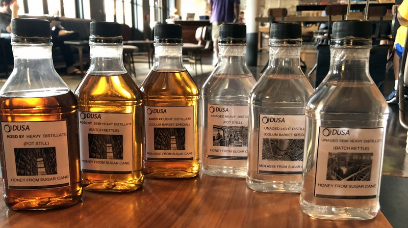 Aged and unaged distillates from DUSA (Diplomatico)