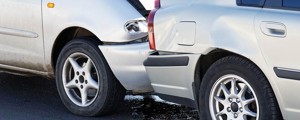 Auto Accident Lawyer St Petersburg | Car Accident Attorney St Pete | 727.328.9000 - The Barker Law Firm - Photo of 2 cars in a rear end collision