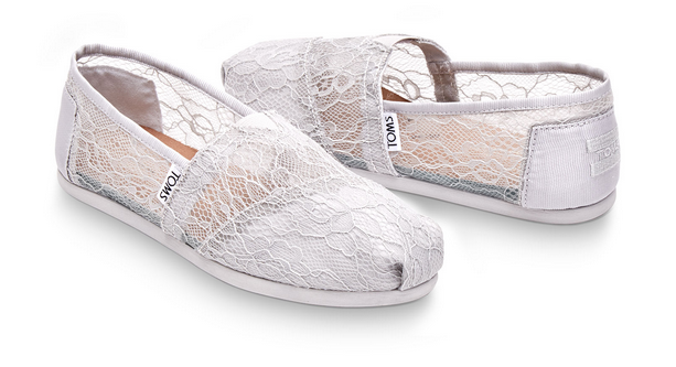 Happy Feet, Footwear, Shoes, Summer, Toms Light Grey Lace Women's Classics, Light Grey, Lace, Womens, Blog A Book Etc, Fay