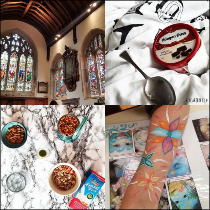 The Week Ahead, Last Week, Instagram, Photos, Kingston, Church, Haagen Daz, Ice Cream, Tea, T2, Face Painting, Blog A Book Etc, Fay