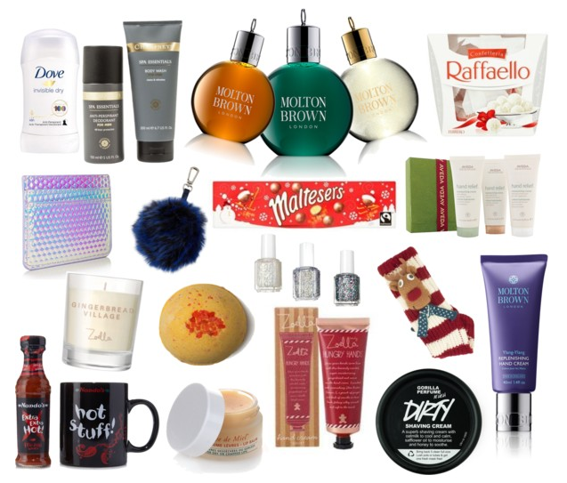 BLOGMAS DAY 20 | Stocking Fillers, Body, Beauty, Skincare, Mens, Women, Gifts for Her, Gifts for Him, Dove, Champneys, Molton Brown, Ferrero Rocher, Skinnydip London, Maltesers, Chocolate, Aveda, Zoella, Zoella Home, Lush, Nandos, Nuxe de Paris, Nuxe, Lip Balm, Essie, Nail Varnish, Nail Polish, Polyvore, Blog A Book Etc, Fay Simone, Fay