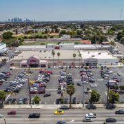 La Brea Retail Parking Lot View