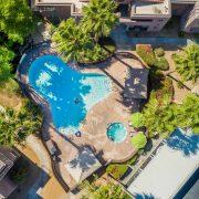 Pool area of the Villa Boutique Apartments