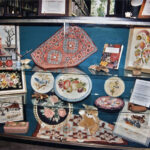 1995 / Display at Beaconsfield Library Lakeshore Hooking Craft Guild 20th Anniversary