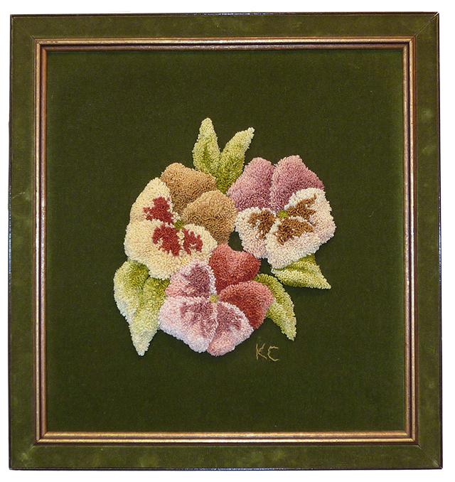 Kay Cousineau. Carved Pansies