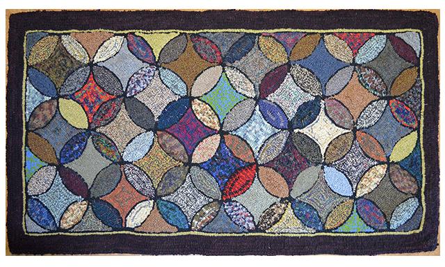 Cathy Wilson. Orange Peel. Traditional quilting pattern.