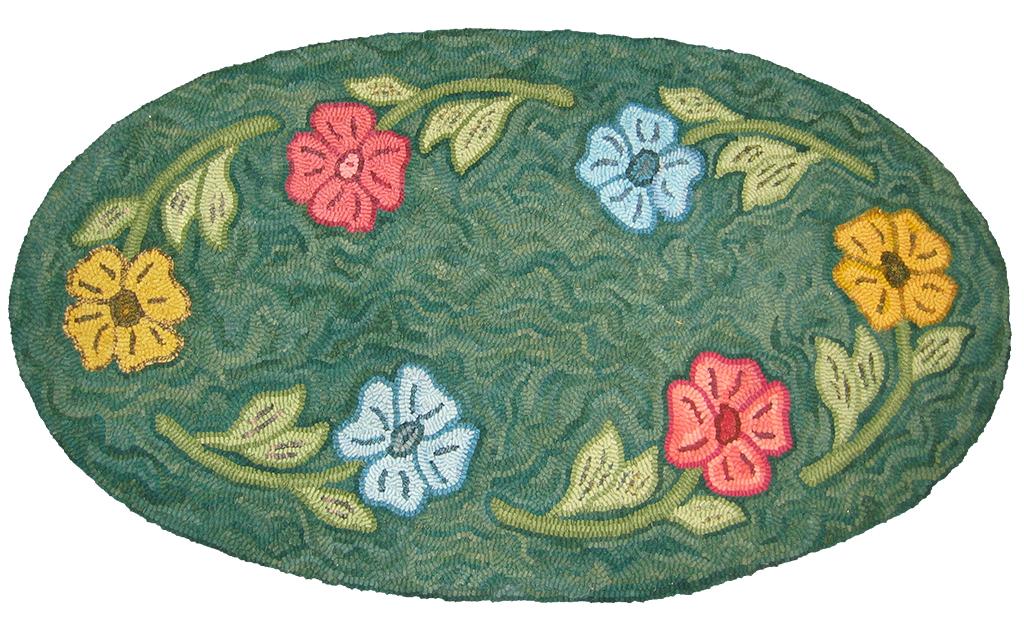 Kay Cousineau. Flowered Rug