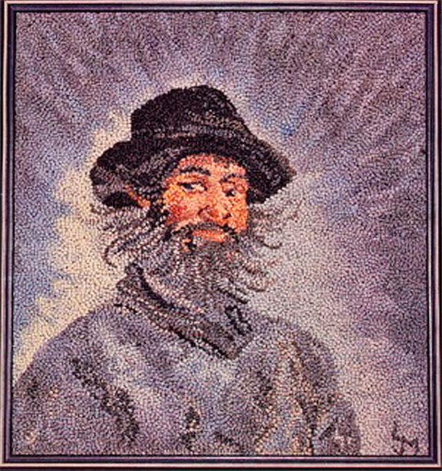 Lois J. Morris. Poly. Adapté d'un portrait par Claude Monet