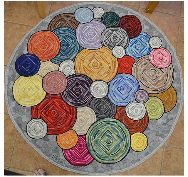 Sylvia Solomon. Squares in Circles. Original.