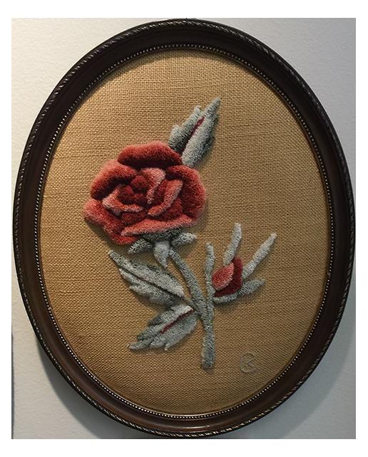 Kay Cousineau. Rose victorienne sculptée