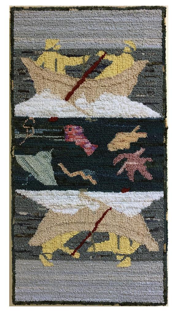 Sally Perodeau. Le pêcheur, adaptation d'un design textile