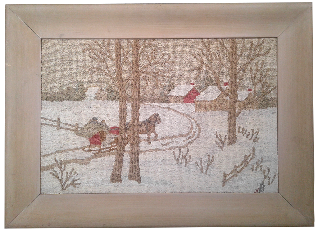 Winter Scene with Sleigh. Unknown artist.