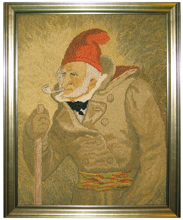 Kay Cousineau. L'Habitant à la pipe. Reproduction d'un tableau de Cornelius Krieghoff.