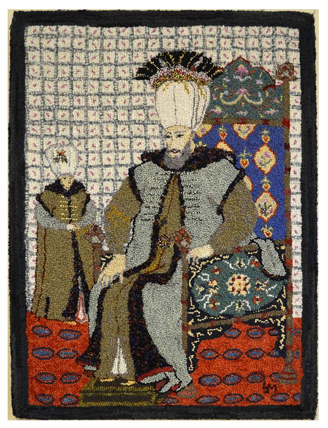 Lois J. Morris. Sultan Turc.  Adaptation d'une miniature ottomane.
