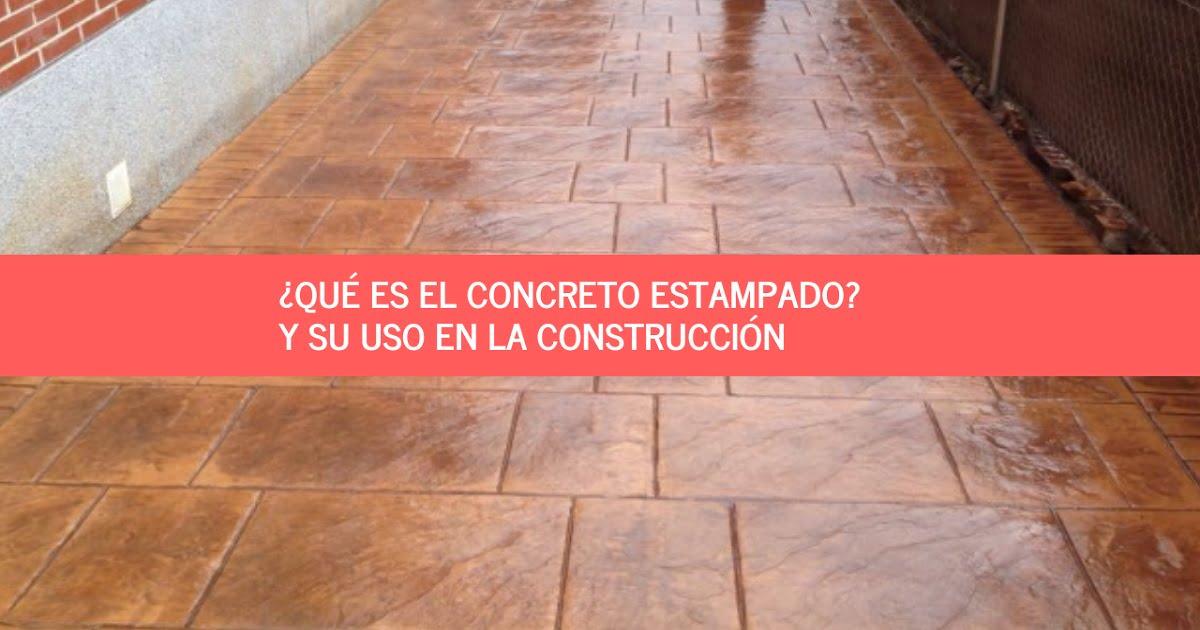 concreto estampado