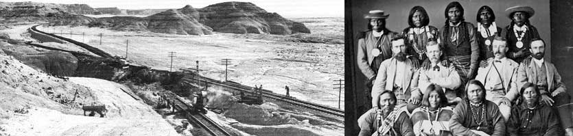 Major railroad comes thru Grand Junction 1882, Ute Indians Just before Meeker Massacre Late 1870's