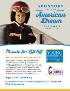 Young Entrepreneurs Academy American Dream Ad