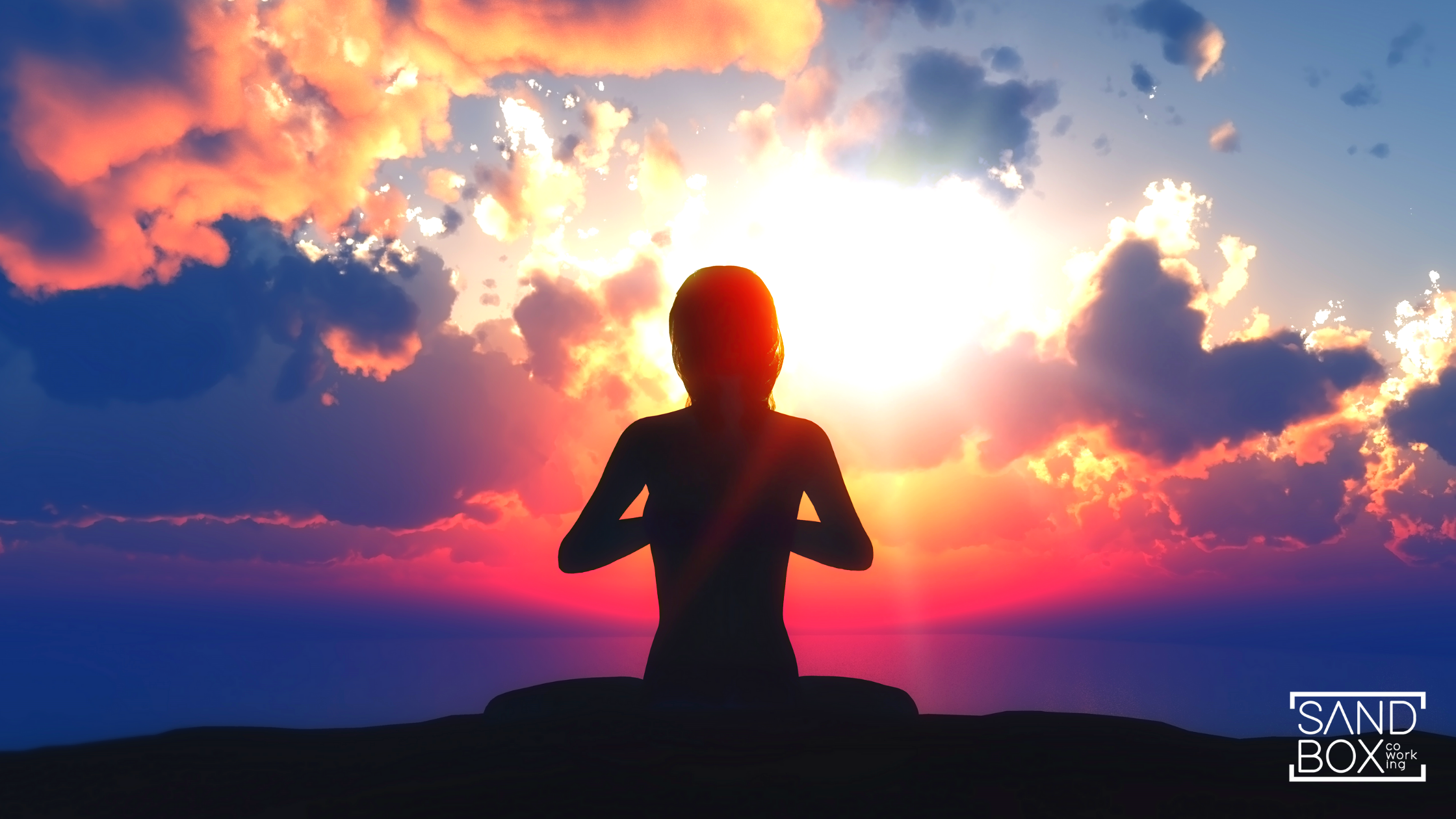 Pessoa meditando para ter saúde mental e física