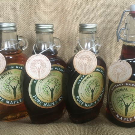 pure maple syrup tasting flight