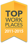 Top Work Places Award 2011 to 2015