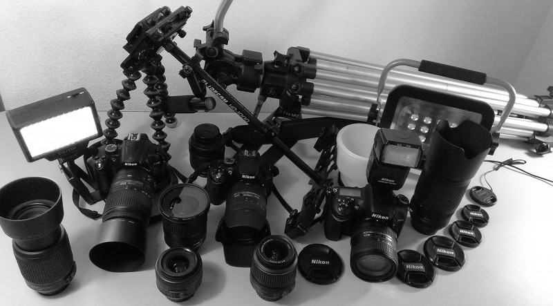 "Some of our camera equipment, not counting lighting. Don't trust your investment to an agent who uses a cell phone camera, or a digital ""point and shoot "" camera."