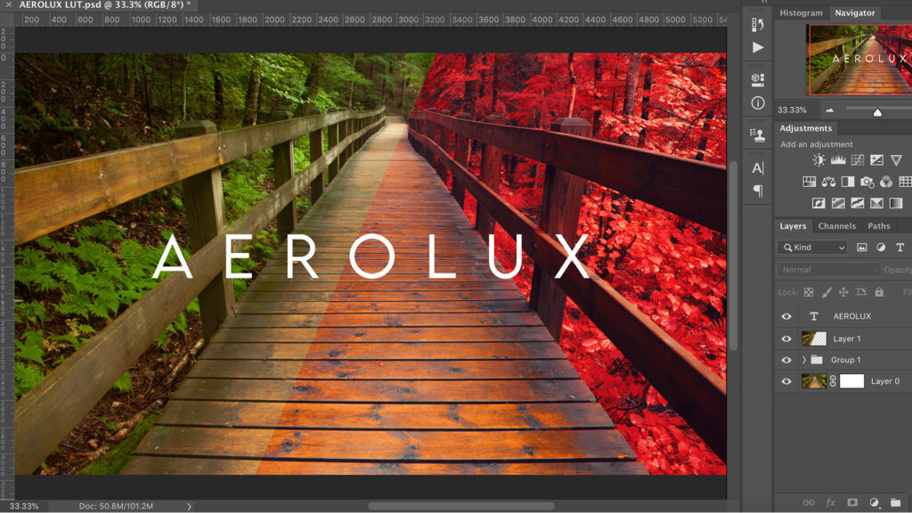 creating the AeroLux out in photoshop