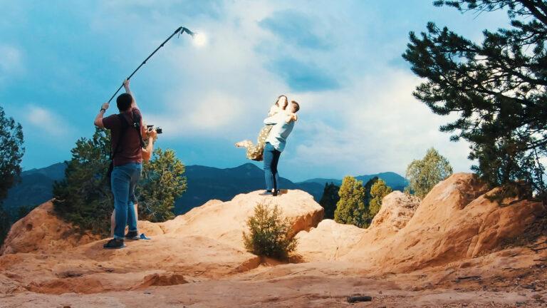 illuminating subjects during run and gun engagement photoshoot