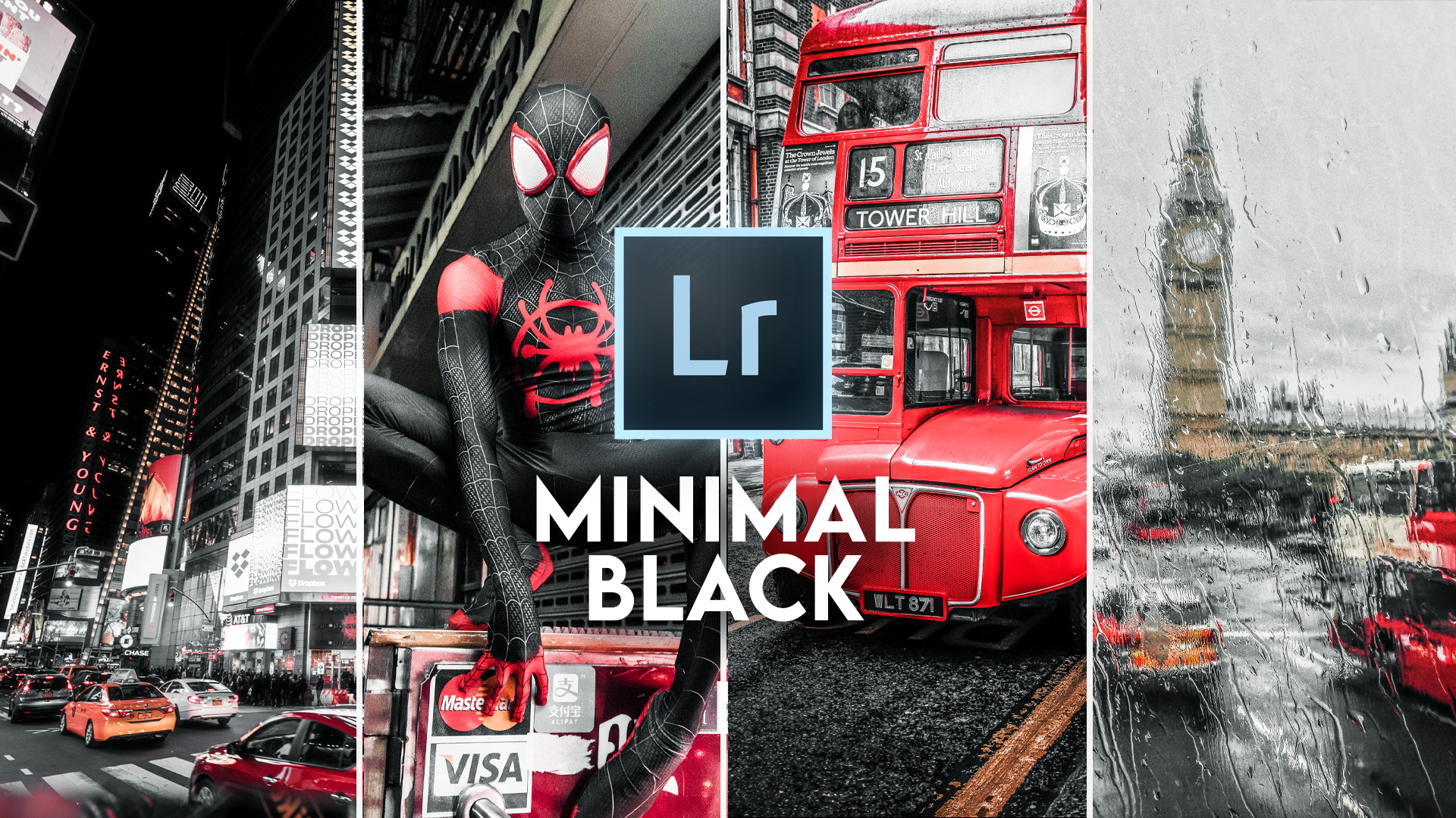 Minimal Black Look in Lightroom [FREE PRESET]