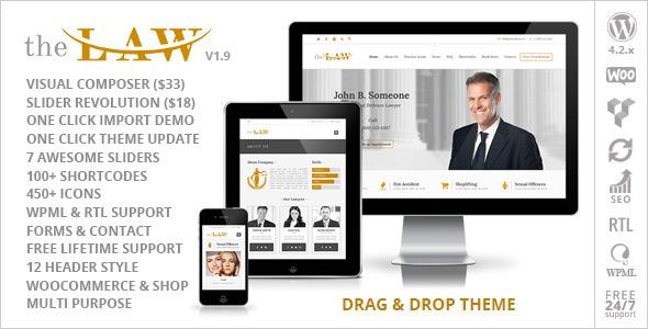 the law lawyer legal attorney wordpress theme drag-drop-v19