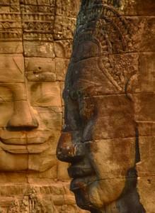 Bayon Temple Buddah faces