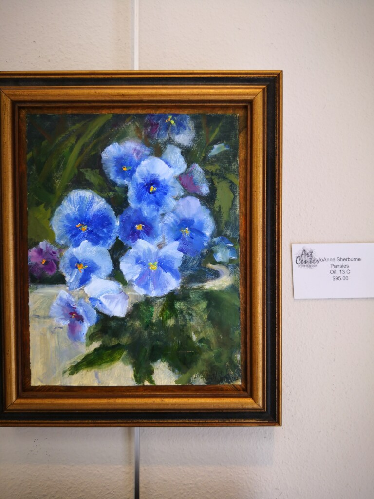 Pansies, JoAnne Sherburne,Oil $95.00