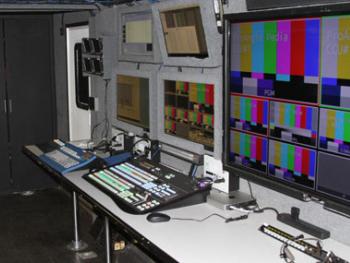 Interior of MU 15 production truck - Proangle Media