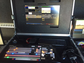 A Pro Angle Media Fly Pack console (MU 16)