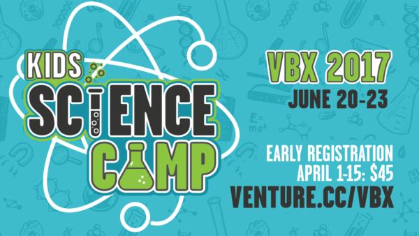 Kids Science Camp Vacation BIble School (VBS VBX) Main Branding