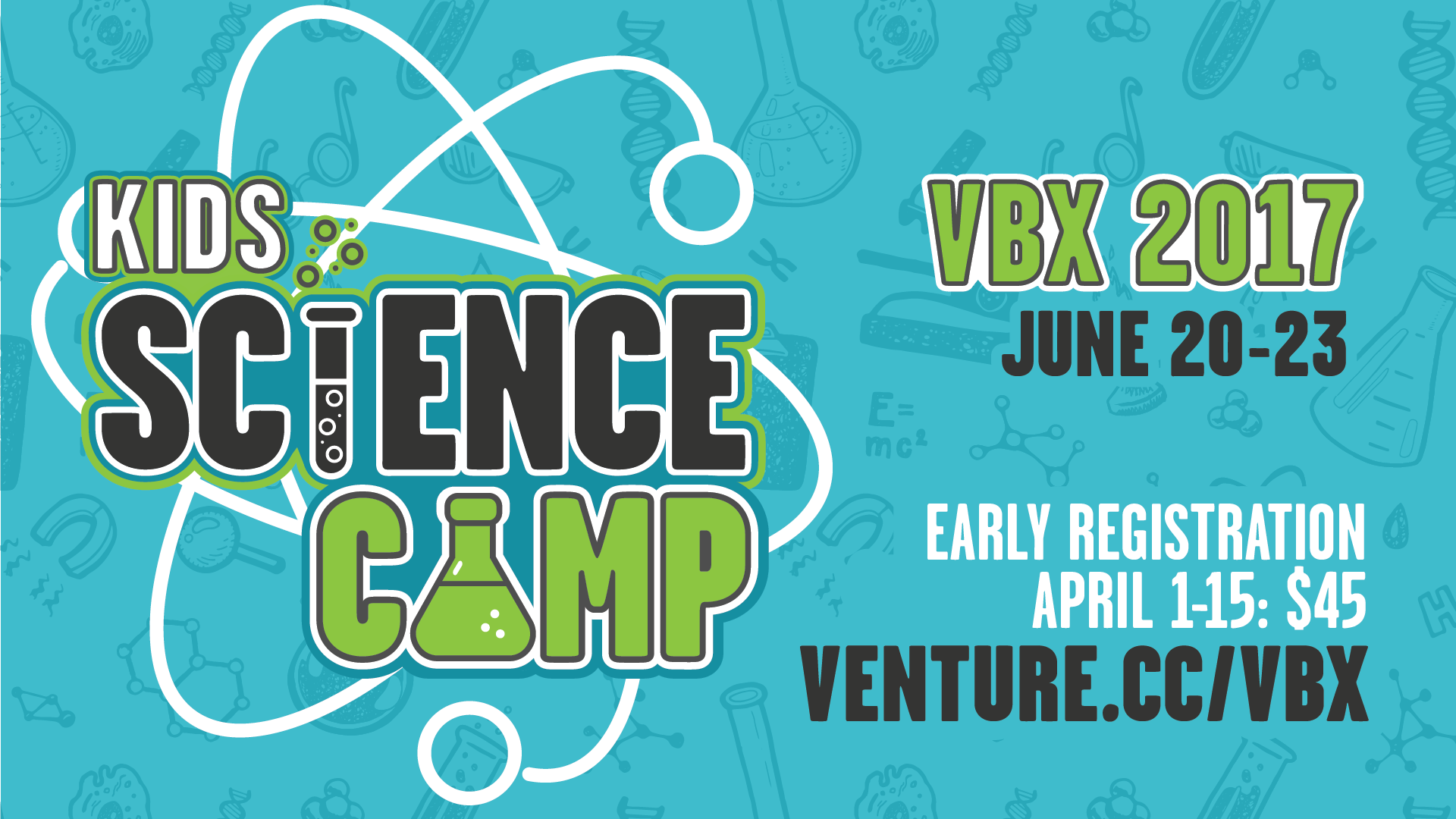 Kids Science Camp Vacation BIble School (VBS VBX) Main Branding