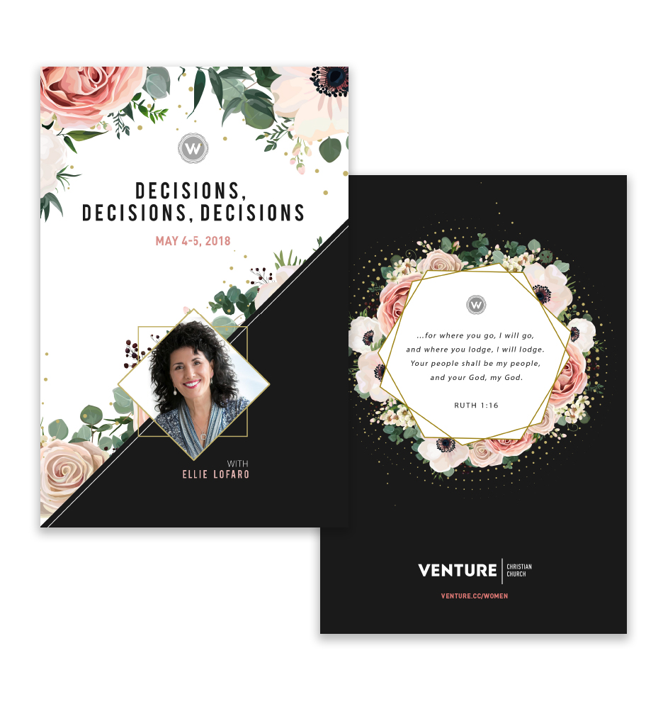 Venture Women's Retreat Brochure - Erica Zoller Creative
