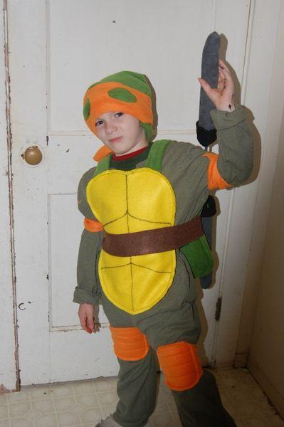 diy Ninja Turtle Costume for a child