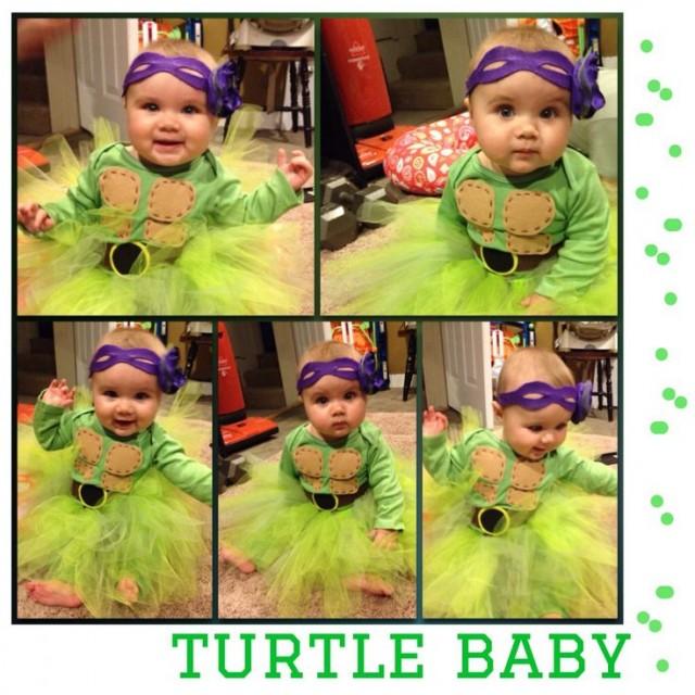 ninja turtles costume for my 7 month old girl