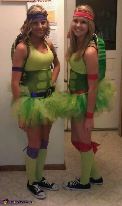 super cute girls in teenage mutant ninja turtle costume