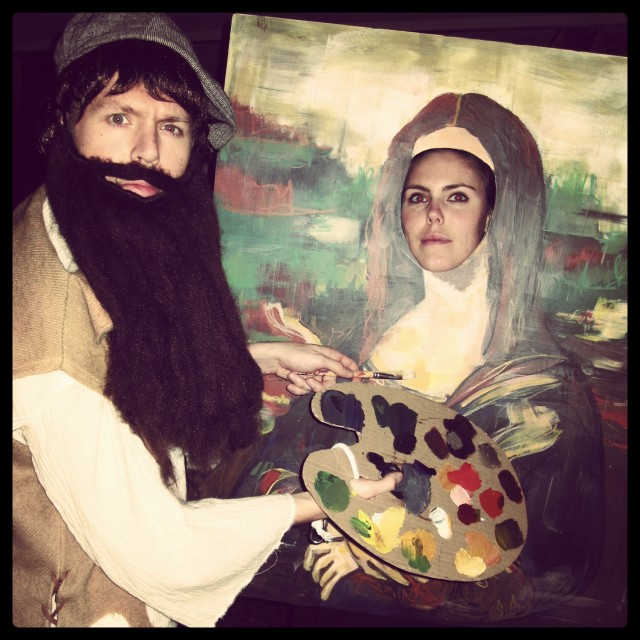 Mona Lisa and Leonardo Da Vinci Halloween Couple Costume