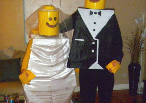 lego-bride-groom-halloween costume