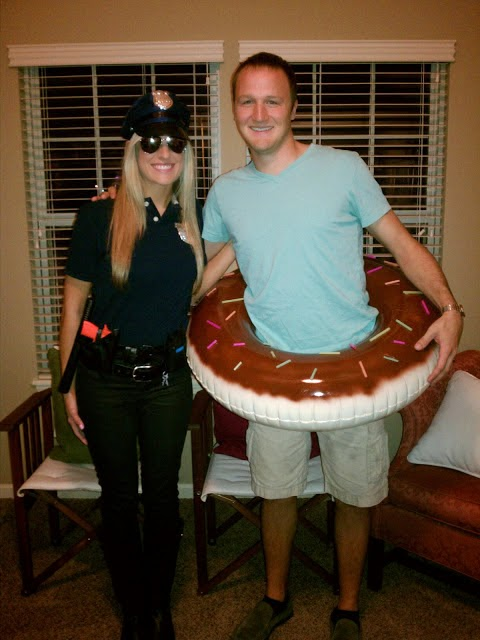 police officer and doughnut couples halloween costume
