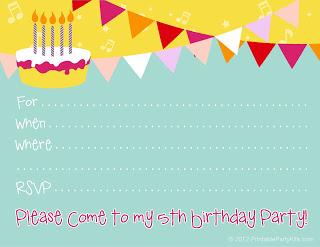 5th-birthday-invite printablepartyinvitations blogspot